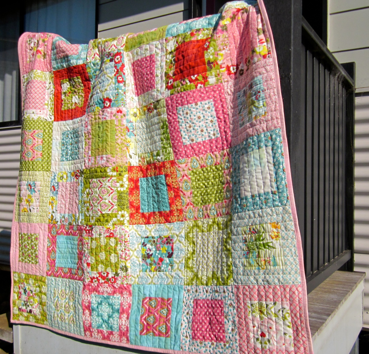 Framed My Most Popular Moda Layer Cake Quilt Tutorial