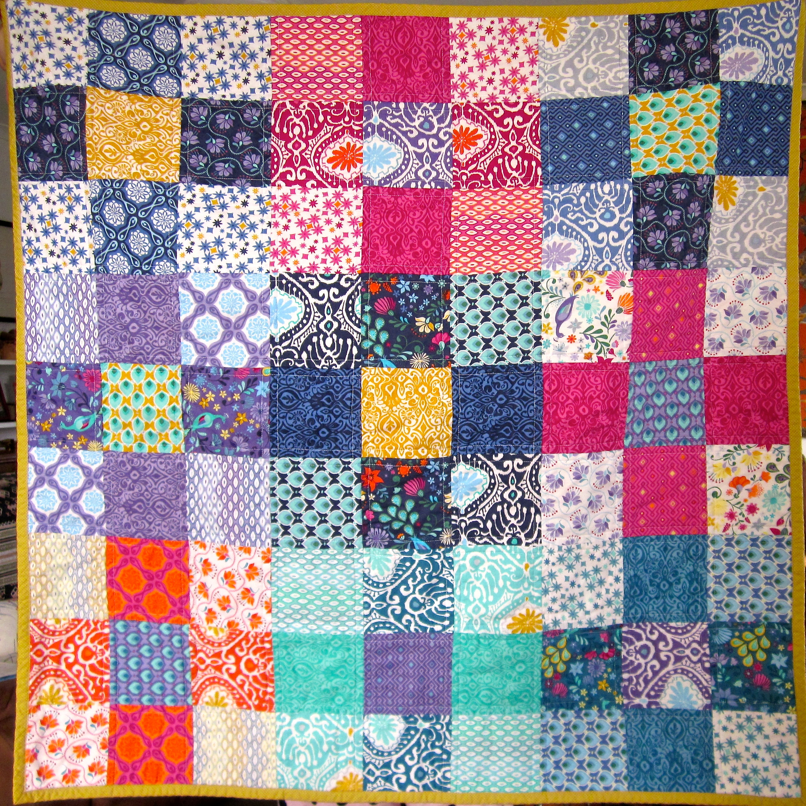 Easy 9 Squared Charm Pack Quilty Silk Road Life