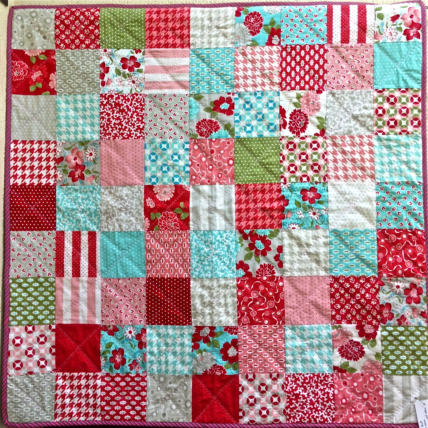 Easy 9 Squared Charm Pack Quilty | Silk Road Life : square patchwork quilt - Adamdwight.com